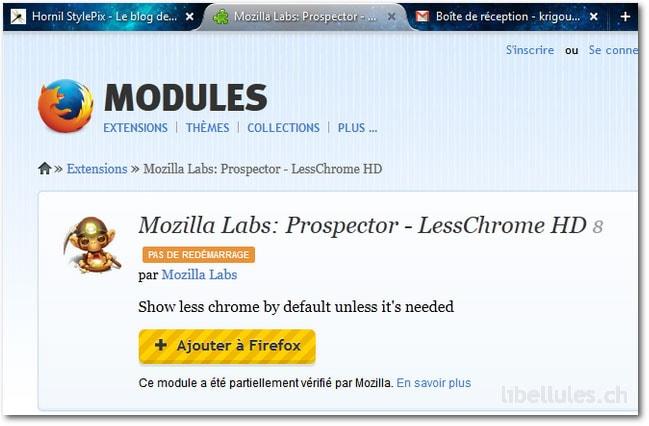 Mozilla Labs: Prospector - LessChrome HD 8
