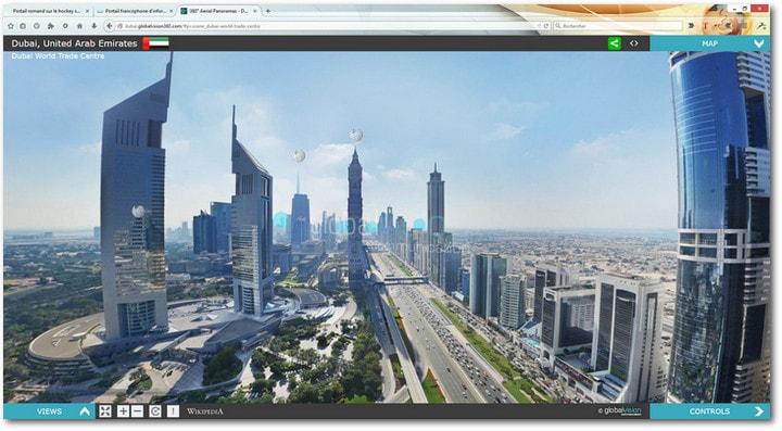 Une visite virtuelle aérienne de Dubai