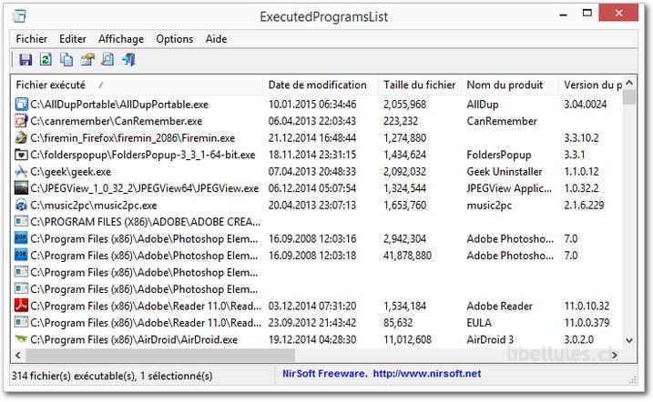 ExecutedProgramsList