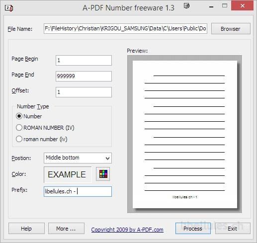 A-PDF Number