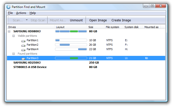 Partition Find and Mount