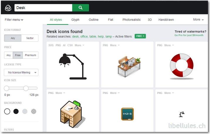 Icon Finder, un moteur de recherche d'icônes