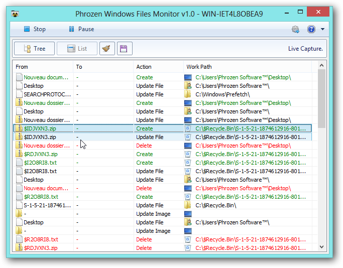 Phrozen Windows File Monitor