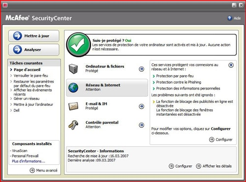 comment arreter mcafee windows 8
