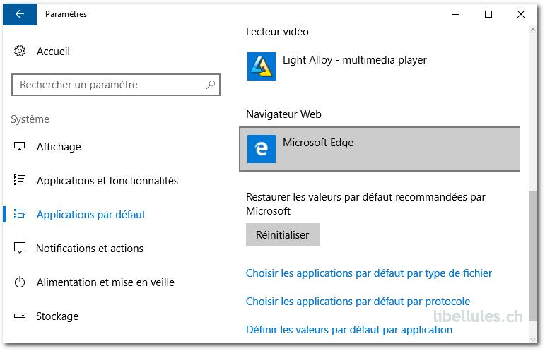 Comment définir un navigateur par défaut sous Windows 10