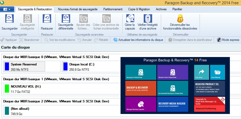 Paragon Backup & Recovery Free 2013