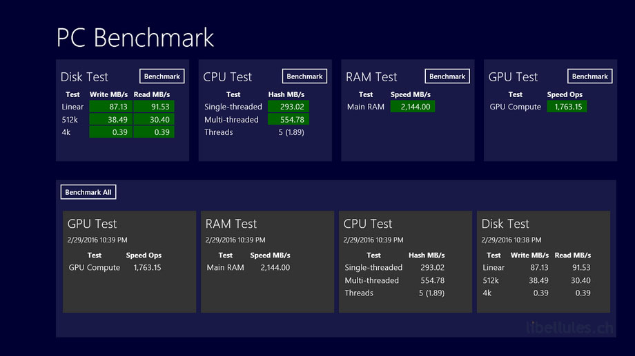PC Benchmark
