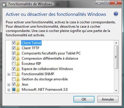 Comment activer Telnet sous Windows Vista