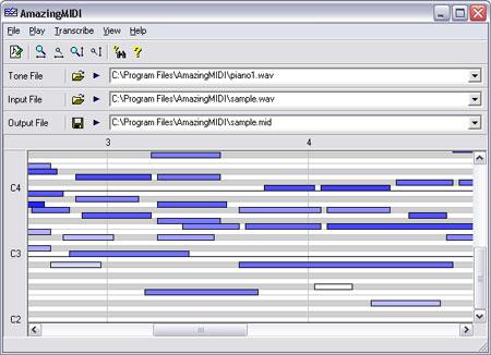 AmazingMIDI - Convertissez vos fichiers Wav en fichiers MIDI