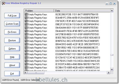 Free Windows Registry Repair