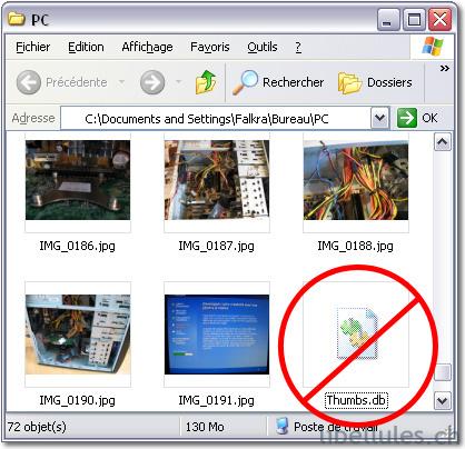 Empêcher la création des fichiers Thumbs.db