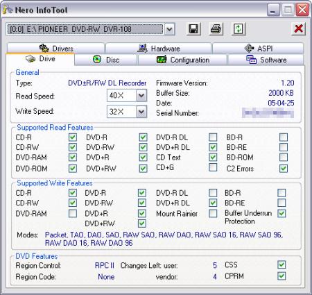 Nero Info Tool