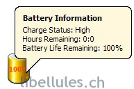 Laptop Battery Power Monitor