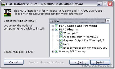 FLAC (Free Lossless Audio Codec)
