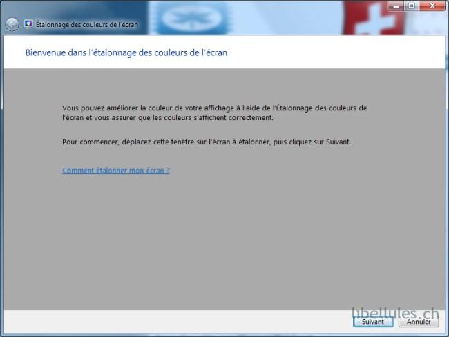 Calibrer son écran sous Windows 7