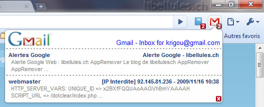 Gmail Checker pour Google Chrome