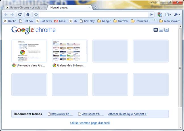 google chrome - le guide - portail francophone d u0026 39 informatique