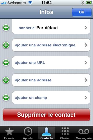 Supprimer un contact dans votre iPhone