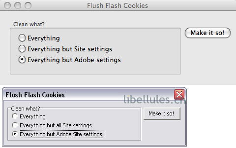 Flush Flash Cookies