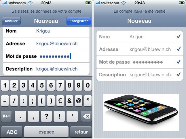 Configurer un compte e-mail sur un iPhone depuis la version 2
