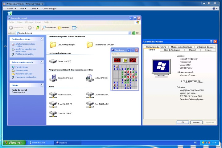 Mode XP de Windows 7