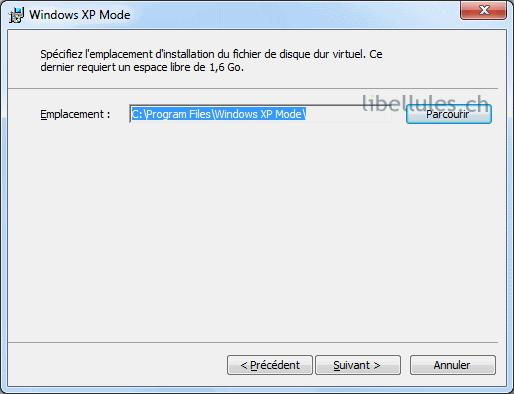 virtualisation mode xp