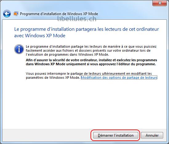 mode XP accès disques durs