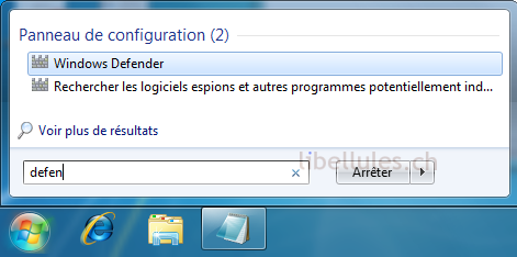 désactiver WD sous Windows 7