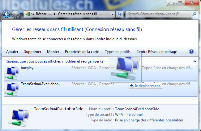 Ensuite dans les menus de gauche, cliquez sur Gérer les réseaux sans fil df4e22d90b08