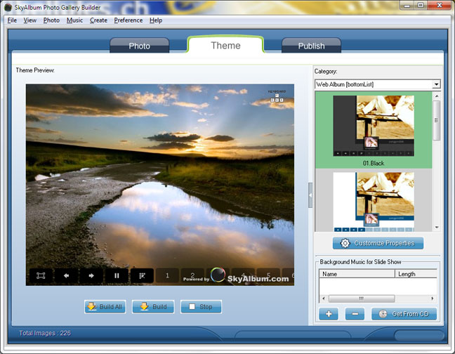 SkyAlbum Photo Gallery Builder