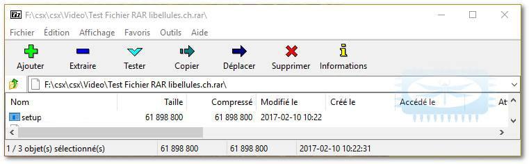 Comment ouvrir un fichier RAR