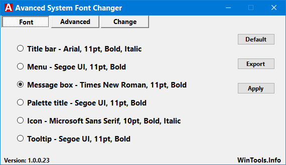 Advanced System Font Changer