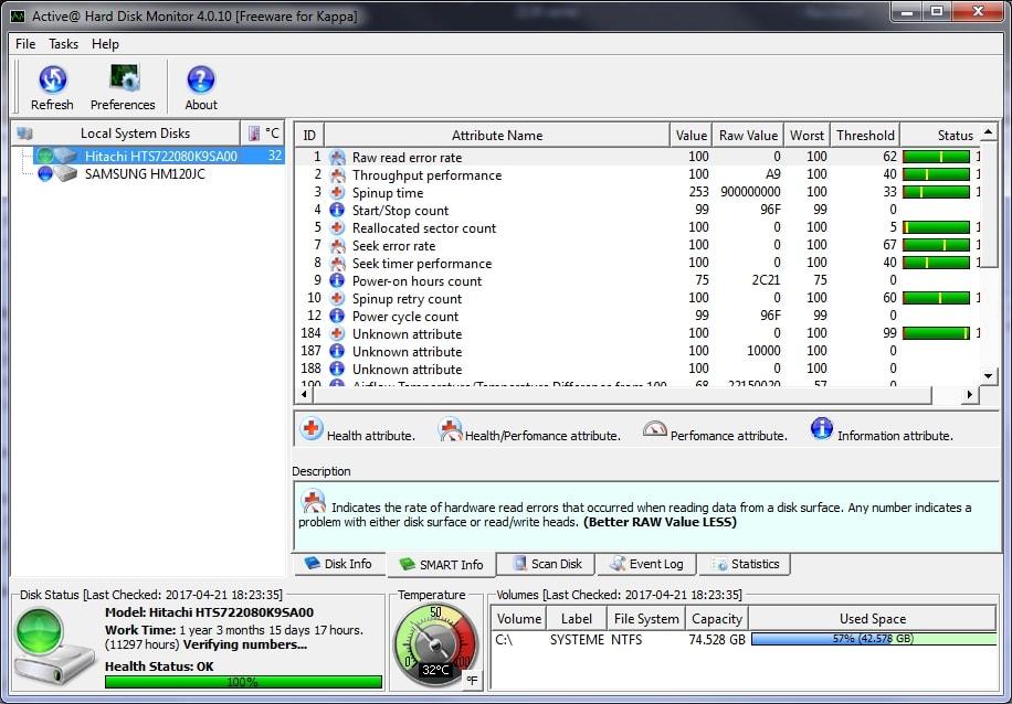 Active Hard Disk Monitor