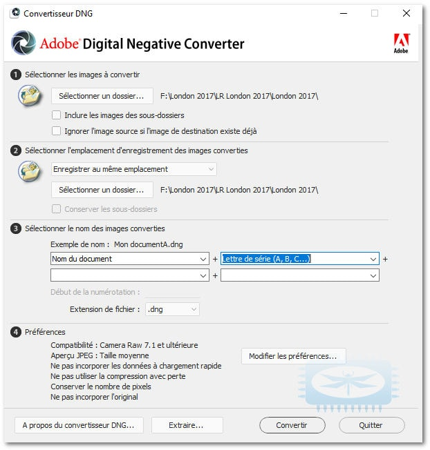 Adobe Digital Negative Converter