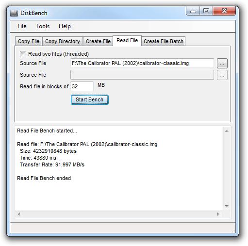 Disk Bench /> tester votre disque dur en conditions réelles