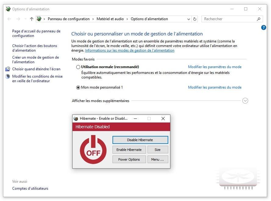 Hibernate - Enable ou Disable, activez ou de désactivez facilement l'hibernation sur votre ordinateur