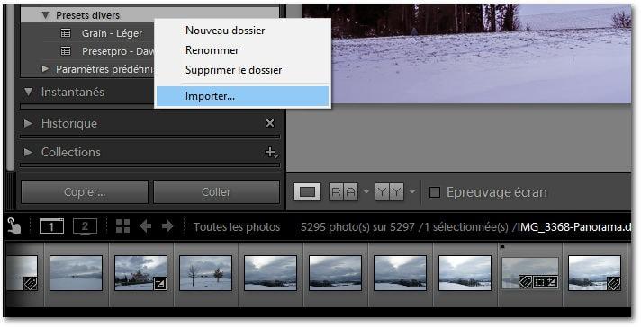 Comment installer et utiliser un preset dans Lightroom