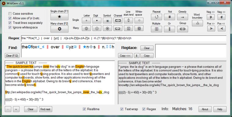 WildGem - rechercher et remplacer rapidement du texte