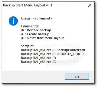 Backup Start Menu Layout - Sauvegarde et restauration de la disposition du menu Démarrer de Windows 10