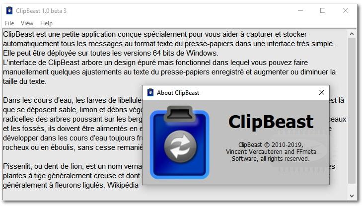 ClipBeast - outil simplissime de presse-papiers