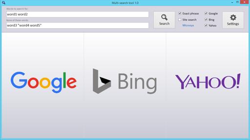 Multi-Search Tool - des recherches Web beaucoup plus rapides