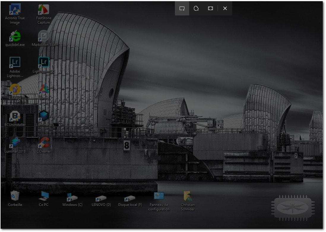 Capture d'écran et croquis - Nouvel outil screenshot pour Windows 10