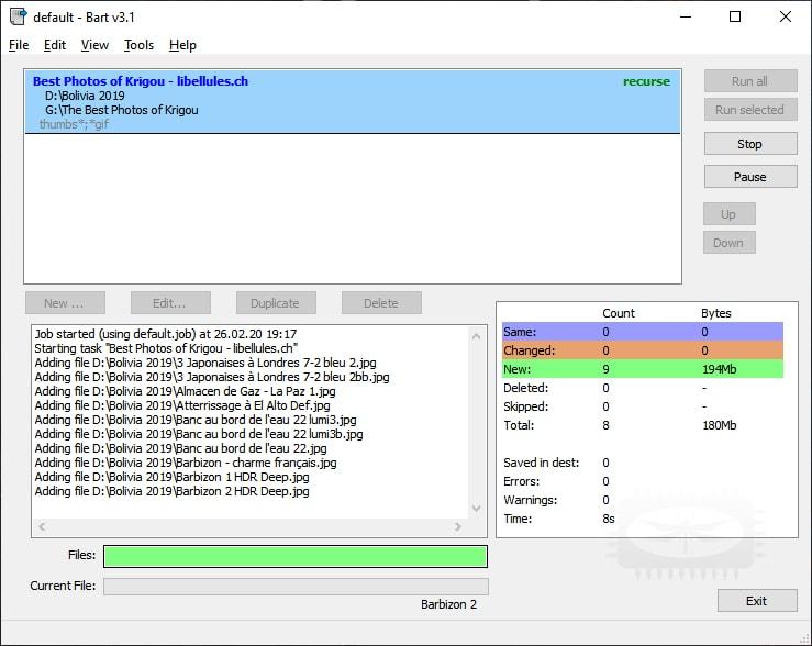 Bart - outil de synchronisation/sauvegarde de fichiers et de dossiers