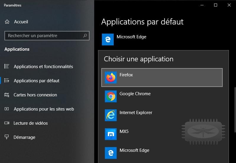 Changer votre navigateur par défaut dans Windows 10