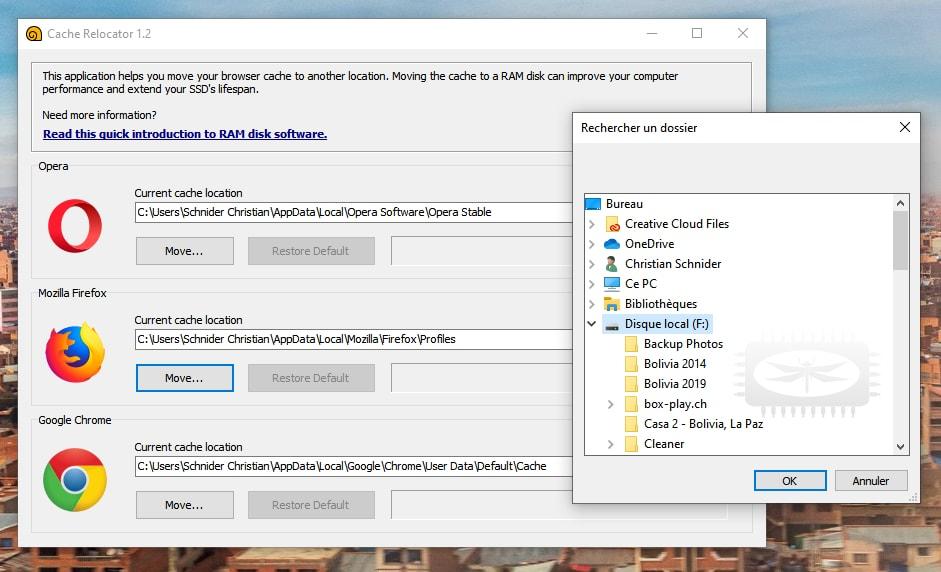 SoftPerfect Cache Relocator - déplacer le cache de votre navigateur