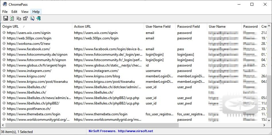 Un outil pour récupérer les mots de passe stockés par Google Chrome