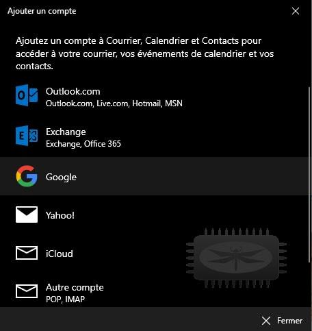 Configurer un compte gmail dans Courrier
