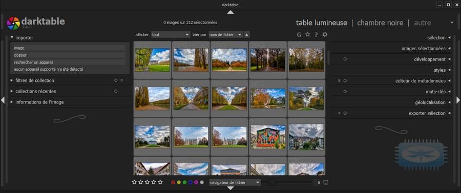 Darktable est un programme de gestion d'images et d'édition d'images inspiré par Adobe Lightroom
