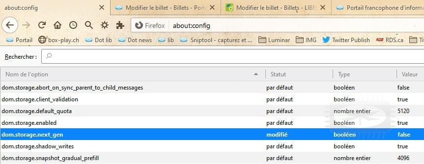 Firefox 70 - chargement incorrecte de certaines pages Web