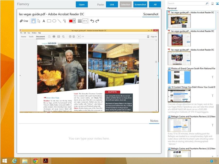 Flamory - capture d'écran avec lien vers l'original